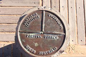 Poeppel Corner - Poeppel Corner Marker, South Australia, Northern Territories, Queensland