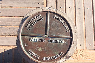 Queensland borders - Poeppel Corner Marker