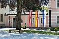 Poertschach Hauptstrasse 153 Gemeindeamt Flaggen vor Gemeindesaal 21052016 3174.jpg