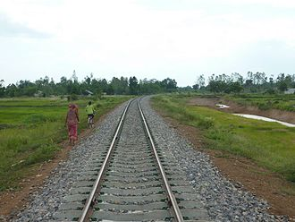 Rail transport in Cambodia - Rehabilitation of Poipet-Sisophon railway, as seen in 2012