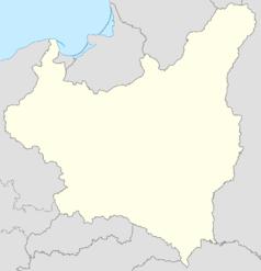 Mapa lokalizacyjna Polski w 1939 r.