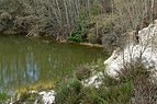 Pond in the sand quarry of Arbois 01.jpg