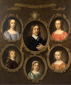 Portrait of Jan Beck and His Five Children by Cornelis Jonson van Ceulen (I) Mauritshuis 688.jpg