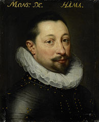 Portrait of Charles de Levin (?-1592), Lord of Famars, Forimont and Lousart