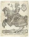 Portret van Hendrik II van Frankrijk te paard kermis-print (titel op object), RP-P-1973-10.jpg