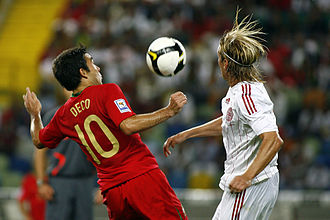 Deco - Deco playing for Portugal against Denmark in 2008.