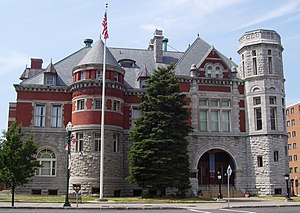 Civil Rights of Institutionalized Persons Act - The Old Post Office and Court House in Auburn, New York, serves as the courthouse for the United States District Court representing the Northern District of New York. CRIPA litigations and settlement are resolved in District courthouses when negotiations fail.