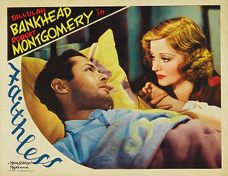 Tallulah Bankhead - Promotional poster for Faithless