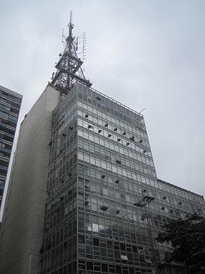 Fundação Cásper Líbero - Headquarters of Fundação Cásper Líbero in Paulista Avenue, São Paulo, Brazil.