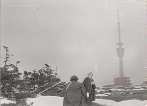 Praděd - Photo taken during construction of that transmitter