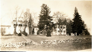 "Towson, Maryland - The former Grafton Bosley estate ""Uplands"", Towson Maryland. after later becoming the Presbyterian Home of Maryland (photo c. 1930)"