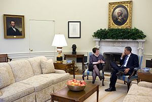 Elena Kagan - Kagan meets with Obama in the Oval Office, April 2010.