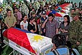President Rodrigo R. Duterte salutes a soldier killed in combat with the Abu Sayyaf in Sulu 02.jpg