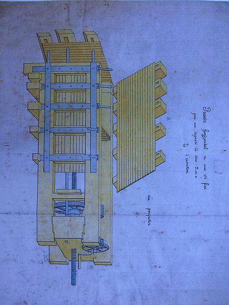 Dessin accompagnant le brevet n°30621 déposé le 31 janvier 1857