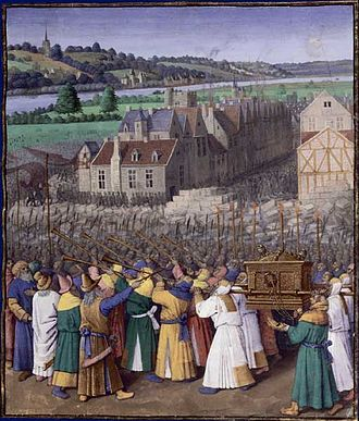 Book of Joshua - The Taking of Jericho (Jean Fouquet, c.1452–1460)