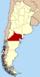 Lage der Provinz Río Negro