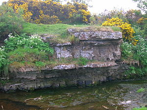 Stewarton - A natural pulpit at the old Corsehill Dam