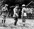 Pvt Harry Shelly receives British Distinguished Conduct Medal from King George V.jpg