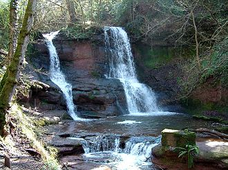 Talgarth - Pwll-y-Wrach waterfall, near Talgarth