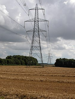Pylons and power cables - geograph.org.uk - 221813.jpg