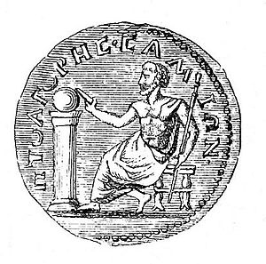 Pythagoras, depicted on a 3rd-century coin