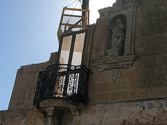 National Inventory of the Cultural Property of the Maltese Islands - This listed niche of Christ the King in Qormi was demolished in 2017
