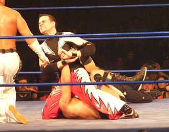 Mike Quackenbush - Quackenbush performing the Chikara Special on the Great Sasuke