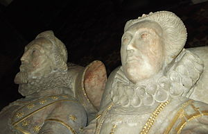 Sir Thomas Wolryche, 1st Baronet - Effigies of Thomas Wolryche's parents, Margaret Bromley and Francis Wolryche of Dudmaston in St Andrew's church, Quatt, Shropshire