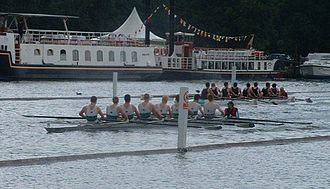 Henley Royal Regatta - Two crews racing in the Temple Challenge Cup at Henley in 2003
