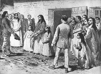 """Jean-Baptiste Dutrou-Bornier - """"Queen Mother"""" Koreto with her daughters """"Queen"""" Caroline and Harriette in 1877"""