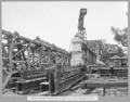 Queensland State Archives 3457 South approach steelwork of spans 4 and 5 stacked on site Brisbane 1 March 1937.png