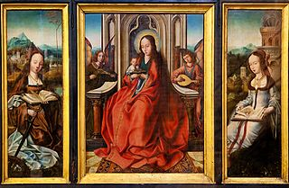 Triptych: ''Virgin and Child'', ''Saint Catherine'' and ''Saint Barbara''