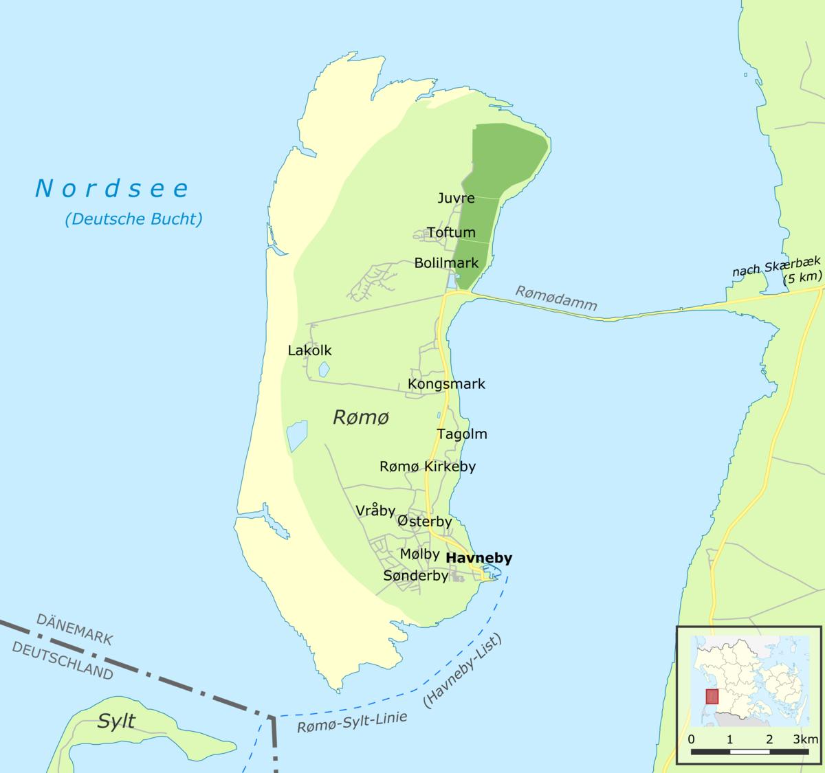 Karte Schweden Dänemark Deutschland.Rømø Wikipedia