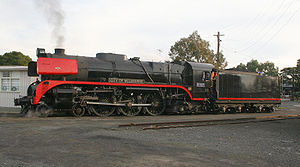 Locomotive - R class steam locomotive number R707 as operated by the Victorian Railways of Australia.