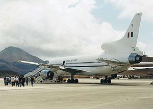 RAF Ascension Island - A RAF Tristar at RAF Ascension Island.