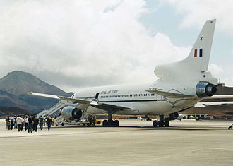 RAF Ascension Island - An RAF Tristar at RAF Ascension Island.