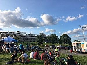 Robert F. Kennedy Memorial Stadium - The South Exterior of RFK Stadium in August, 2017