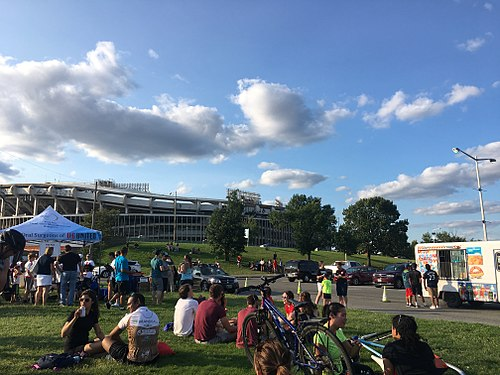 South exterior in August 2017 RFK Stadium Washington DC August 4 2017.jpg