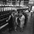 RIAN archive 632920 Lvov cotton mill. Secretary I. Alayeva of Krasnoarmeysky District Committee of CPSU, Lvov, is a mill worker.jpg