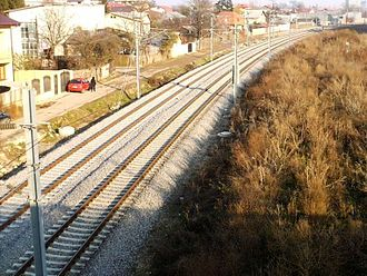 Căile Ferate Române Line 800 - Image: RO B Bucuresti Constanta railway near Bucharest