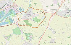Radcliffe on Trent parish map in Nottinghamshire.jpg