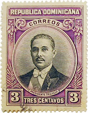 Rafael Trujillo - Stamp issued in 1933 on the occasion of Trujillo's 42nd birthday