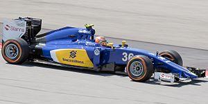 Raffaele Marciello - Marciello during free practice for the 2015 Malaysian Grand Prix