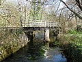 Railway bridge, across mill stream, east of Staverton - geograph.org.uk - 1237474.jpg
