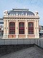 Railway station, East hall, facade, 2020 Terézváros.jpg