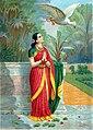 Raja Ravi Varma, Haunsa Damayanti Sanwada (Oleograph print).jpg