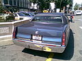 Rear view of Cadillac Fleetwood taxi in Geneva, Switzerland.jpg