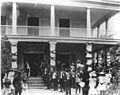 Reception at Washington Place upon Queen Liliuokalani's return from Washington, DC, in August 1898.jpg