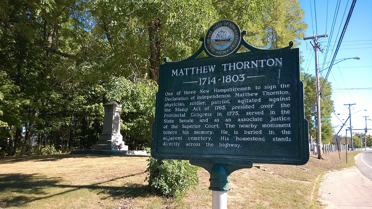 Signers House And Matthew Thornton Cemetery