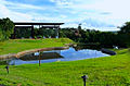Reflecting pool and visitor center at the Dr. Daisaku Ikeda Park in Londrina Brazil.jpg